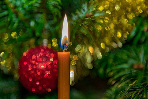 Christmas, Candle, Decoration, Red, Christmas Candle