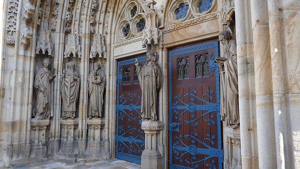 Portal, Church Entrance, Figures, Icons, Church