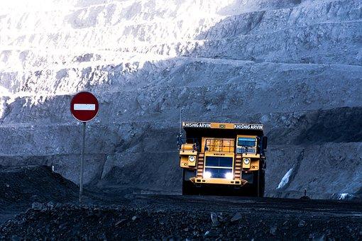 Truck, Dump, Mining, Coal, Blue Truck