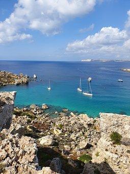 Malta, Coast, Sea, Water, Mediterranean, Ocean, Gozo