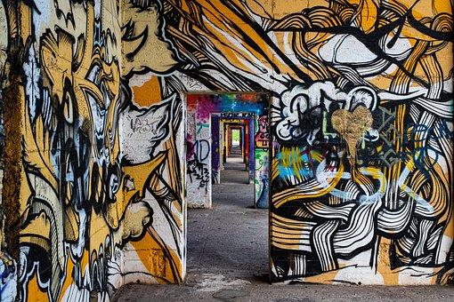 Grafitti, Art, Sprayer, Creativity, Wall, Spray, Color