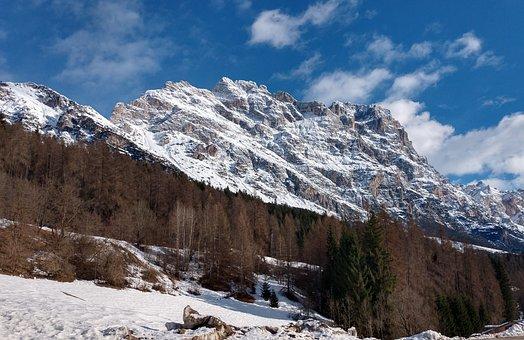 Cortina, D'ampezzo, Ski, Olympiad, Mountains, Snow