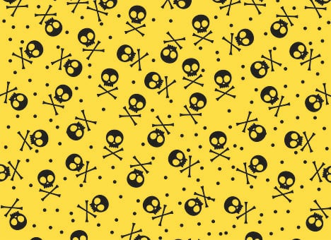 Skull, Stamping, Bones, Yellow, Fun, Death, Mexico