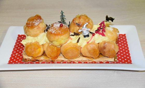 Yule Log, Dessert Christmas, Cake