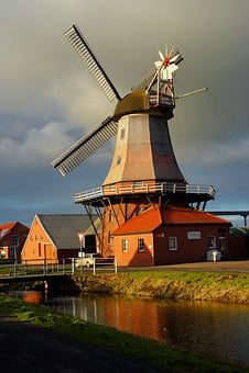 Windmill, East Frisia, Dutch, Grind Grain, Monument