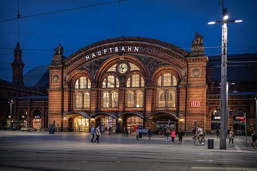 Bremen, Railway Station, Railway, Travel, Facade