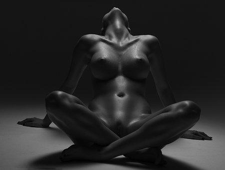 B W, Body, Sexy, Nude, Woman, Model, Female, Girl