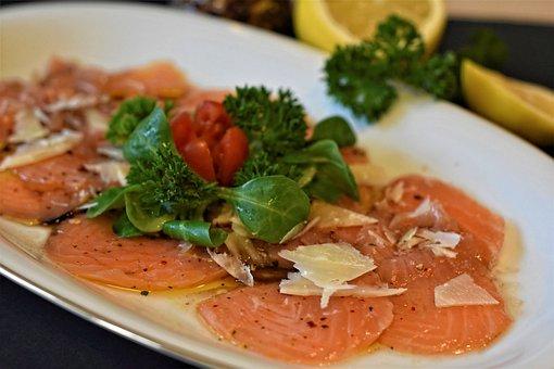 Salmon, Carpaccio, Fish, Eat, Starter, Food, Exquisite