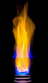 Fire, Glass, Flame, Burn, Heat, Chemistry, Glowing