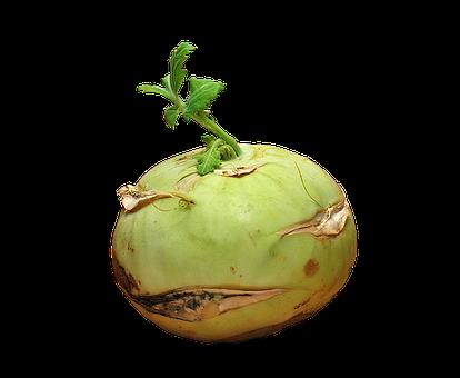 Kohlrabi, Vegetables, Isolated, Fresh, Vitamins