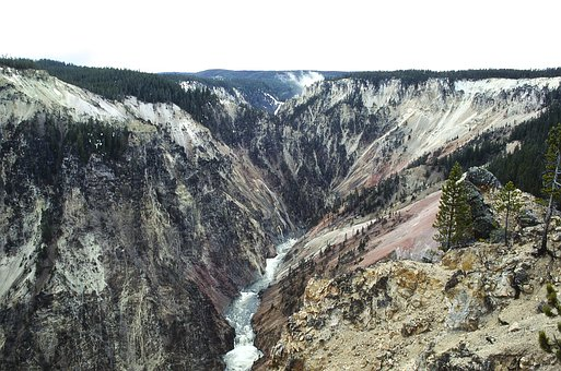 Yellowstone, River, Landscape, Nature, Scenic, Outdoors