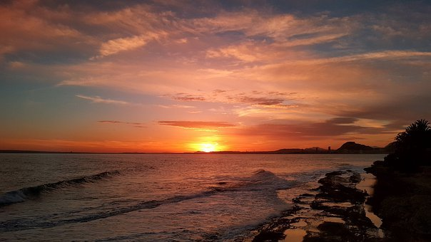 Alicante, Sun, Sea, Landscape, Costa, Nature, Waves