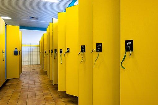 Yellow, Locker, Indoor Swimming Pool, Sport, Swim