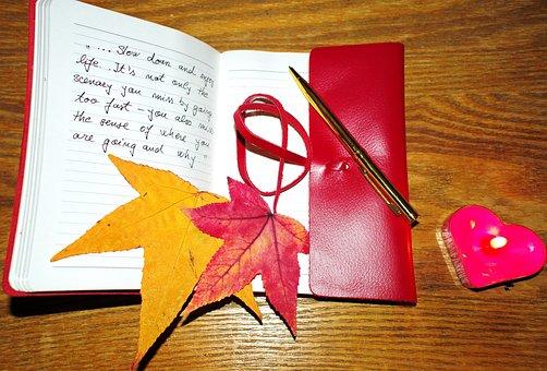 Enjoy Life, Notebook, Pen, Candle, Love, Contemplation