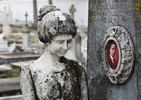 Portugal, Evora, Cemetery, Graveyard, Rip, Ornament