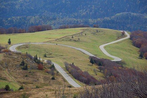 Road, Vosges, Places Of Interest, France, Serpentine