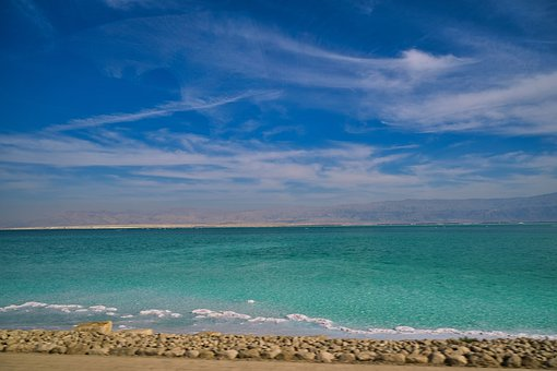 Salty Sea, Dead Sea, Sea, Israel, Sky, East, Nature