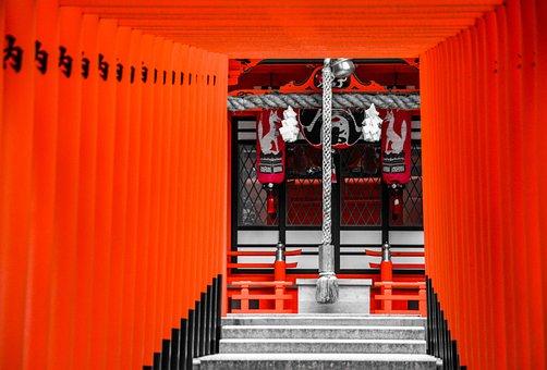 Shrine, Japan, Kyoto, Torii, Traditional, Gate, Shinto