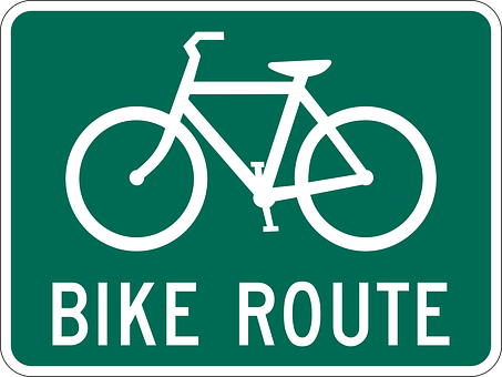 Bike, Route, Sign, Lane, Symbol, Travel, Ride