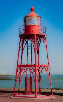 Lighthouse, Sea, Vacations, Light, Coast, Sky, Landmark