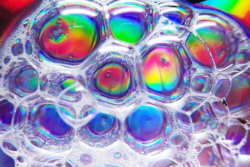 Bubbles, Soap, Water, Transparent, Pattern, Colorful