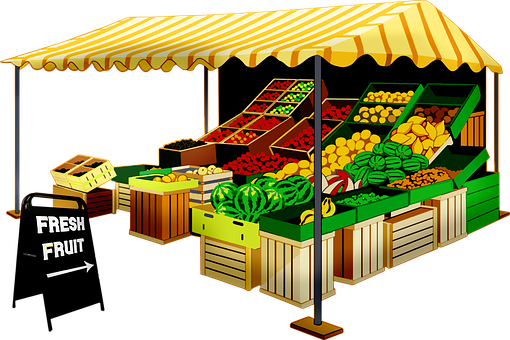 Fruit Seller, Fruit Stand, Vendor, Market, Fruit, Fresh