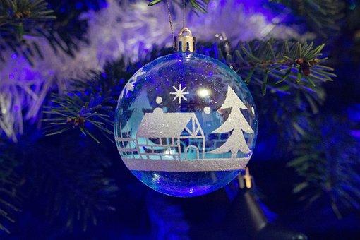 Christmas Tree, Christmas Ball, Christmas, Winter