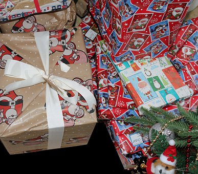 Christmas, Presents, Gifts, Packets, Winter, Xmas