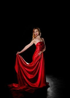 Fabric, Girl, A Floor-length Dress, Woman, Model, Body