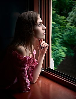 Girl, Window, Beauty, Cover, Hands, Dreamy, Memory