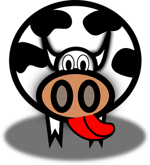 Cow, Tongue, Lick, Cattle, Cartoon