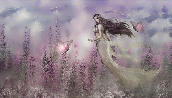 Fantasy, Fee, Flowers, Fairy Tales