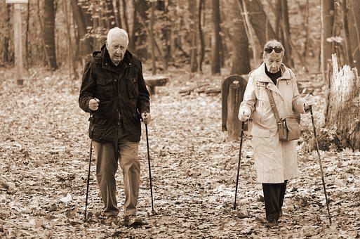 Couple, Family, Man, Woman, Old, Age, Going, Together