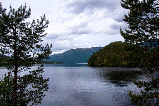Sea, Water, Calm, Grey, Norway, Scandinavia, Travel