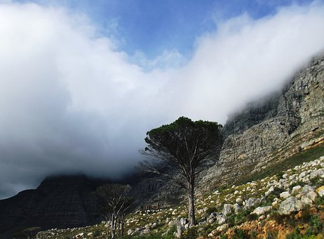 Table Mountain, Cape Town, Mountain, Landscape, Sky