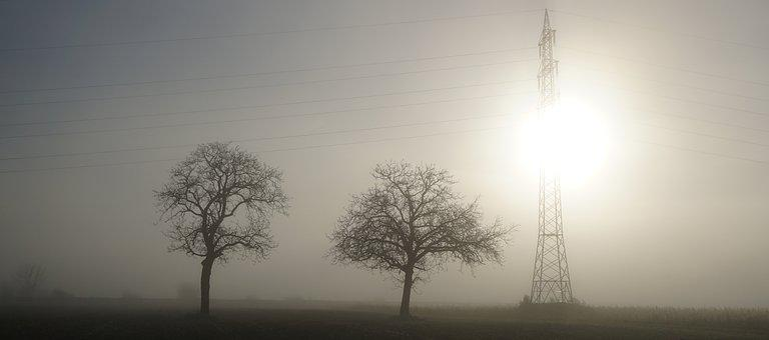 Fog, Sunrise, Landscape, Trueb, Sun, Sky, Trees, Kahl