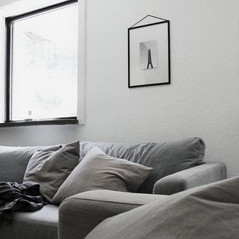 Living Room, Sofa, Pillows, Home, Interior, The Room
