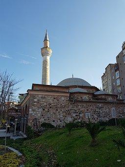 Cami, Minaret, Dome, Sky, On, Date, Manisa, Ottoman