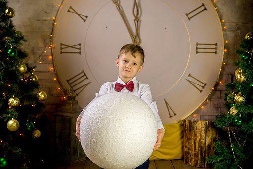 New Year's Eve, New Age, Holiday, Boy, Clock, Chime