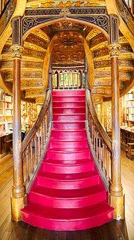 Bookstore, Porto, Portugal, Stairs, Architecture