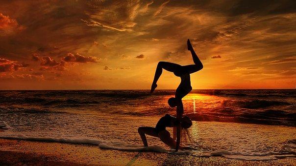 Acroyoga, Yoga, Balance, Couple, Training, Pose, Asana