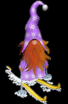 Scandia Gnome, Christmas Skiing