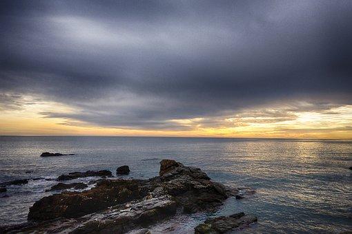Recco, Sunset, Liguria, Landscape, Genoa, Water, Sea