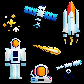 Astronaut, Rocket, Space, Stars, Telescope, Science