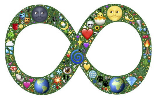 Infinity, Emoji, Creation, Full, Nature, Symbol