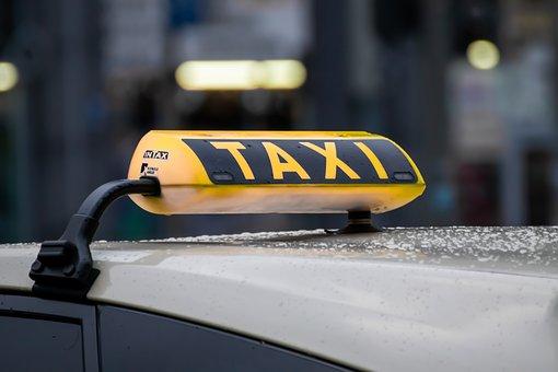 Taxi, Rain, Raindrop, Means Of Rail Transport
