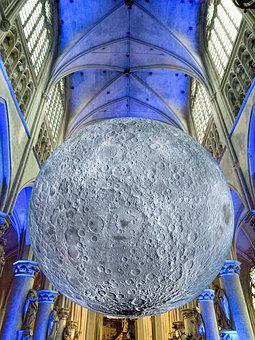 Moon, Church, Vault, Architecture