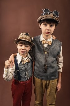 Kids, Boys, Brothers, Family, Retro, Vintage, Costumes