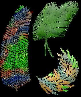 Watercolor Palm Leaves, Palm Leaf, Palm, Plant, Nature