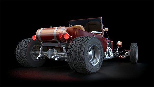 Rendering, Cgi, 3ds Max, Hot Rod, Vehicle, 3d